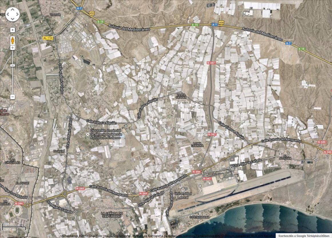 Fóliasátrak és üvegházak Almariában