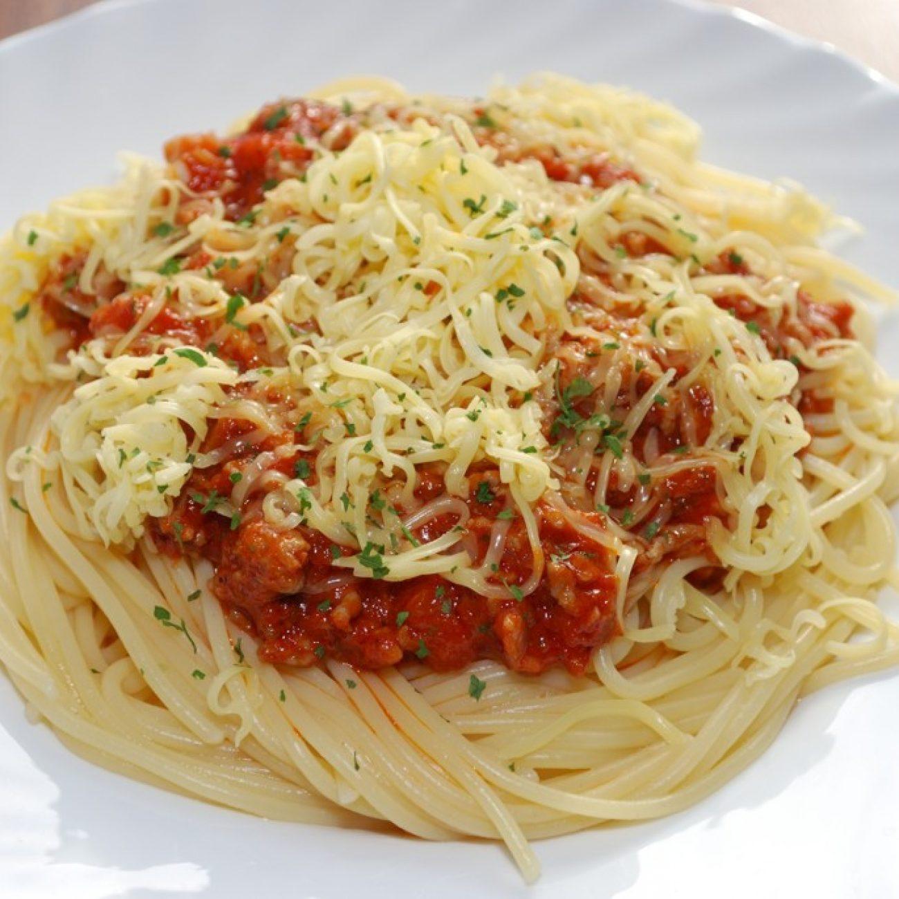 Paradicsomos húsos spagetti